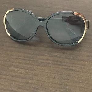 Fendi Black Gold Sunglasses with Side Logo